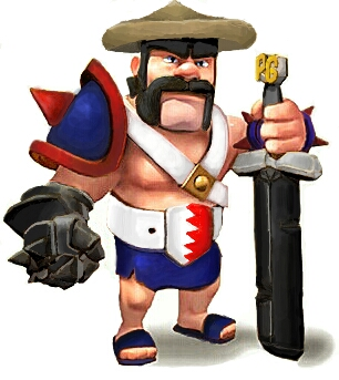 Pinoy Version Of The Barbarian King From Clash Of Clans