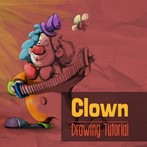 how to draw clown step by step
