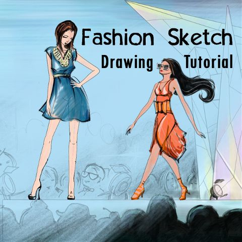 how to draw a fashion sketch