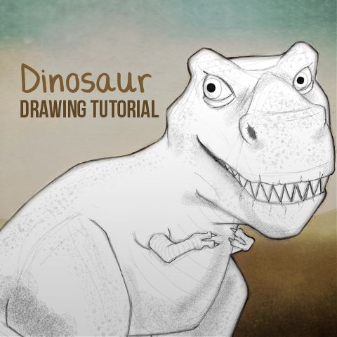 how to draw a dino with PicsArt