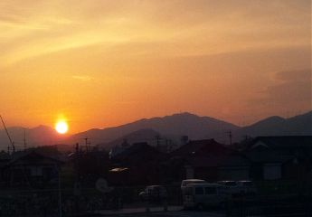 japan saga sunset photo
