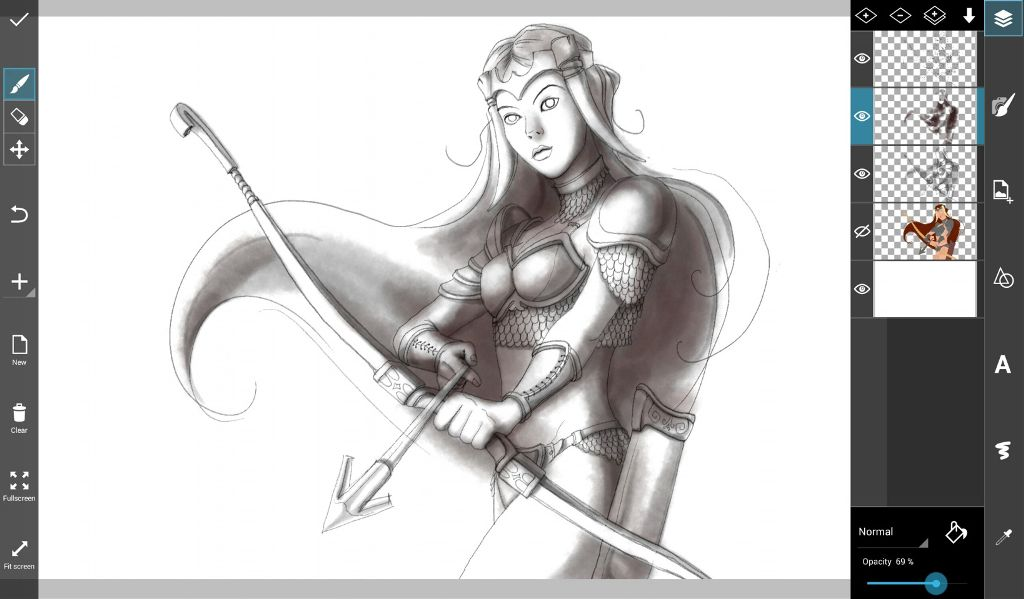 how to draw an amazon warrior woman step by step