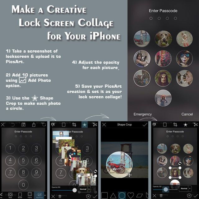 Make A Creative Iphone Lock Screen Collage