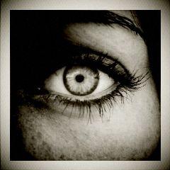 eye black & white