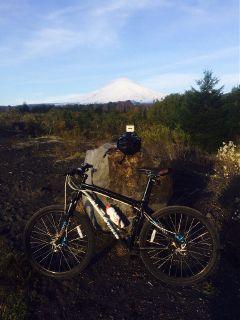 villarrica volcán surdechile bici gopro