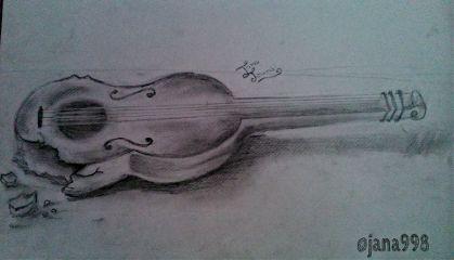 guitar art black & white drawing music