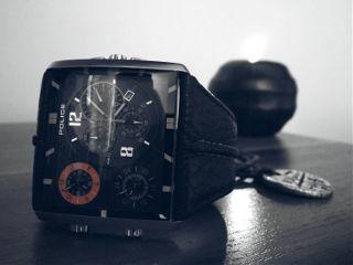 watch black orange timepieces blackandwhite