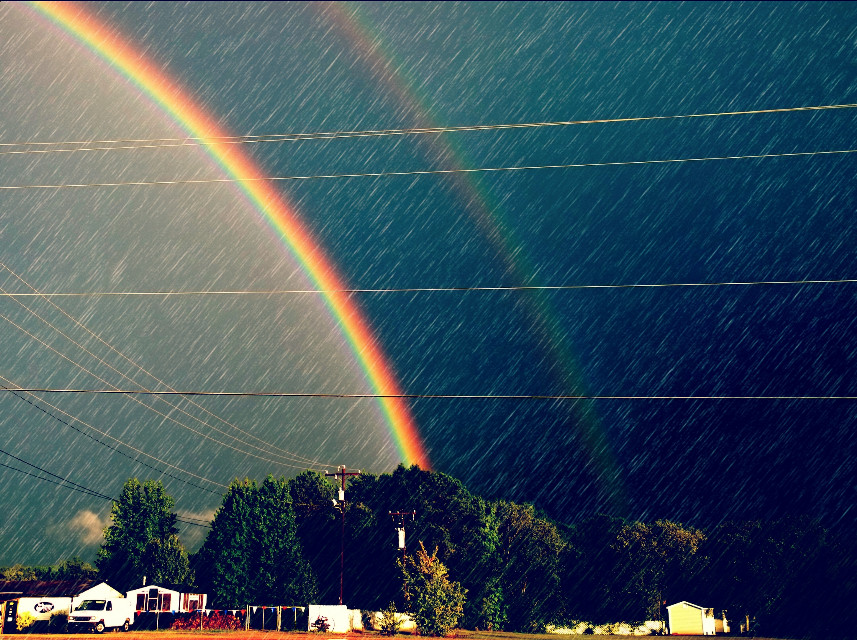 This was the most amazing double rainbow I had ever seen in my life.