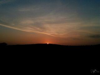 autumn landscape sky sunset