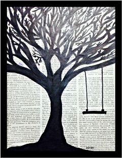 silhouettes blackandwhite nature autumn newspaper