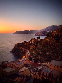 travel winter sun sunset italy