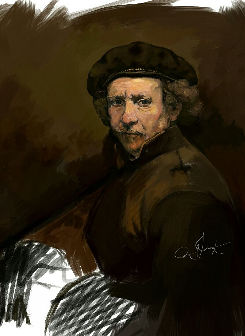 #art #drawing #portrait #rembrandt #wdpportrait