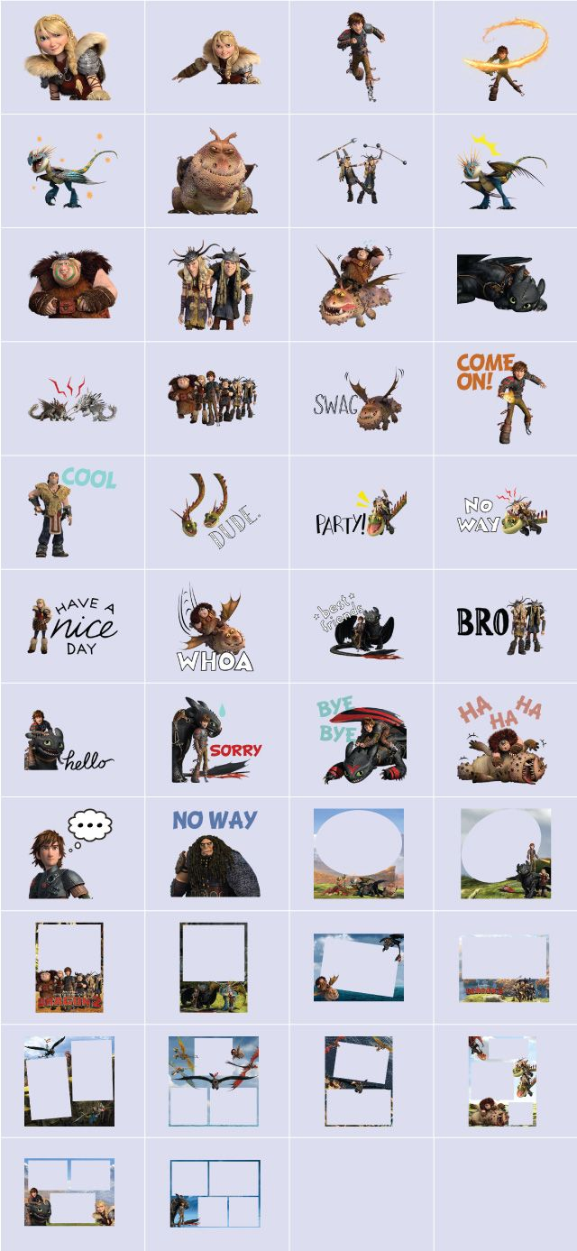 how to train your dragon 2 clipart and stickers